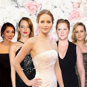 Jennifer Lawrence, Emma Stone, Laura Simpson, Brie Larson, Amy Schumer
