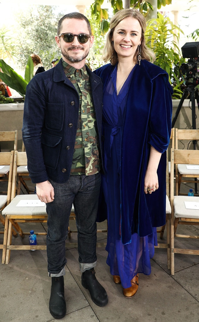 Elijah Wood & Mette-Marie Kongsved -  Attended the Rodarte show on Feb. 5, 2019.