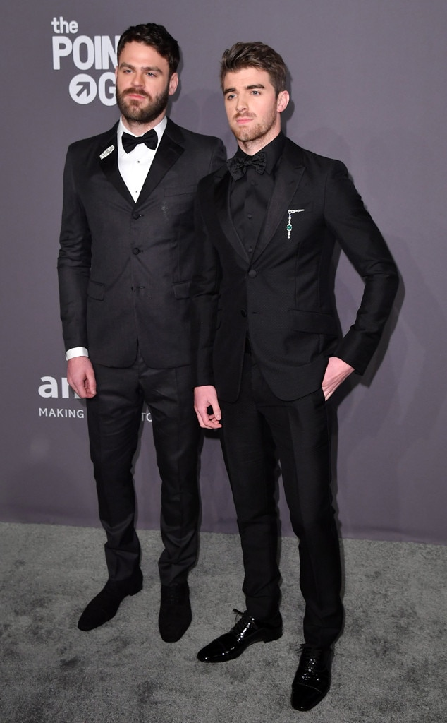 Alex Pall, Andrew Taggart, The Chainsmokers, amfAR Gala New York 2019