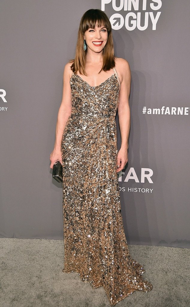 Milla Jovovich, amfAR Gala New York 2019