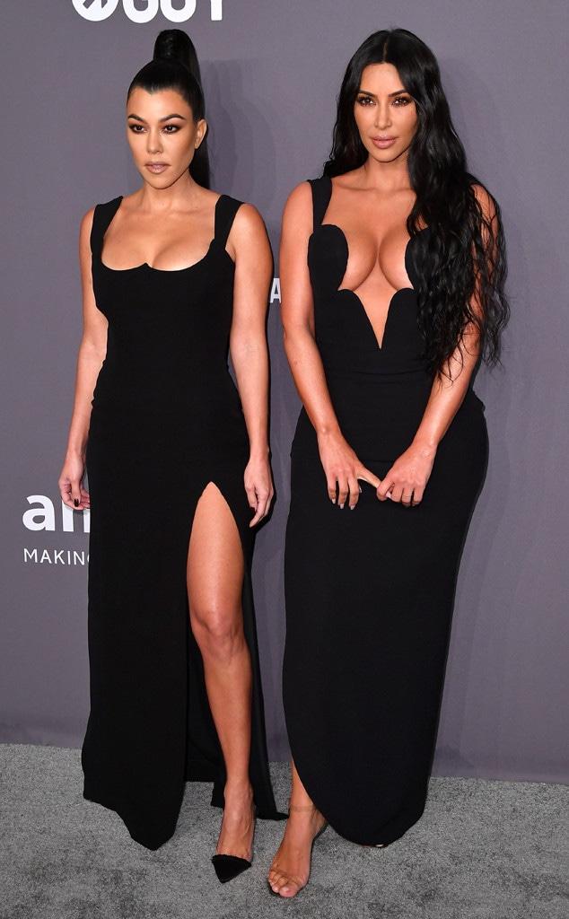 Kim Kardashian, Kourtney Kardashian, amfAR Gala New York 2019