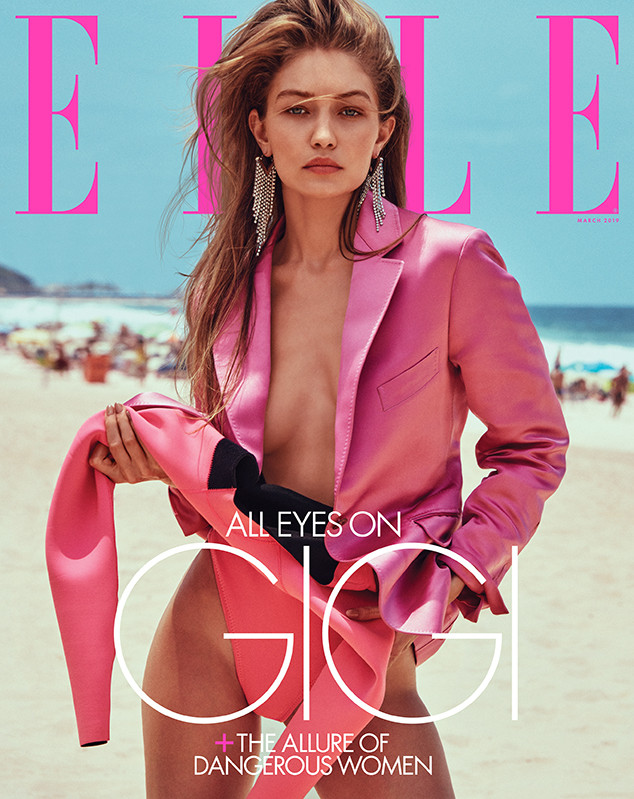 Gigi Hadid, ELLE, March 2018
