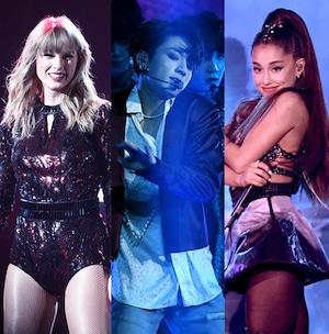 Taylor Swift, BTS, Ariana Grande