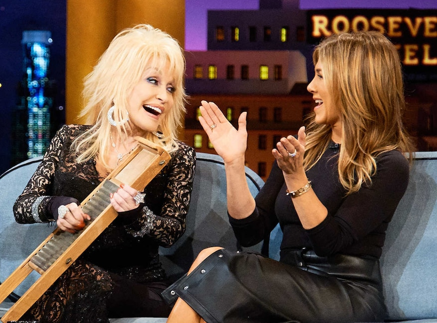 Dolly Parton, Jennifer Aniston, The Late Late Show
