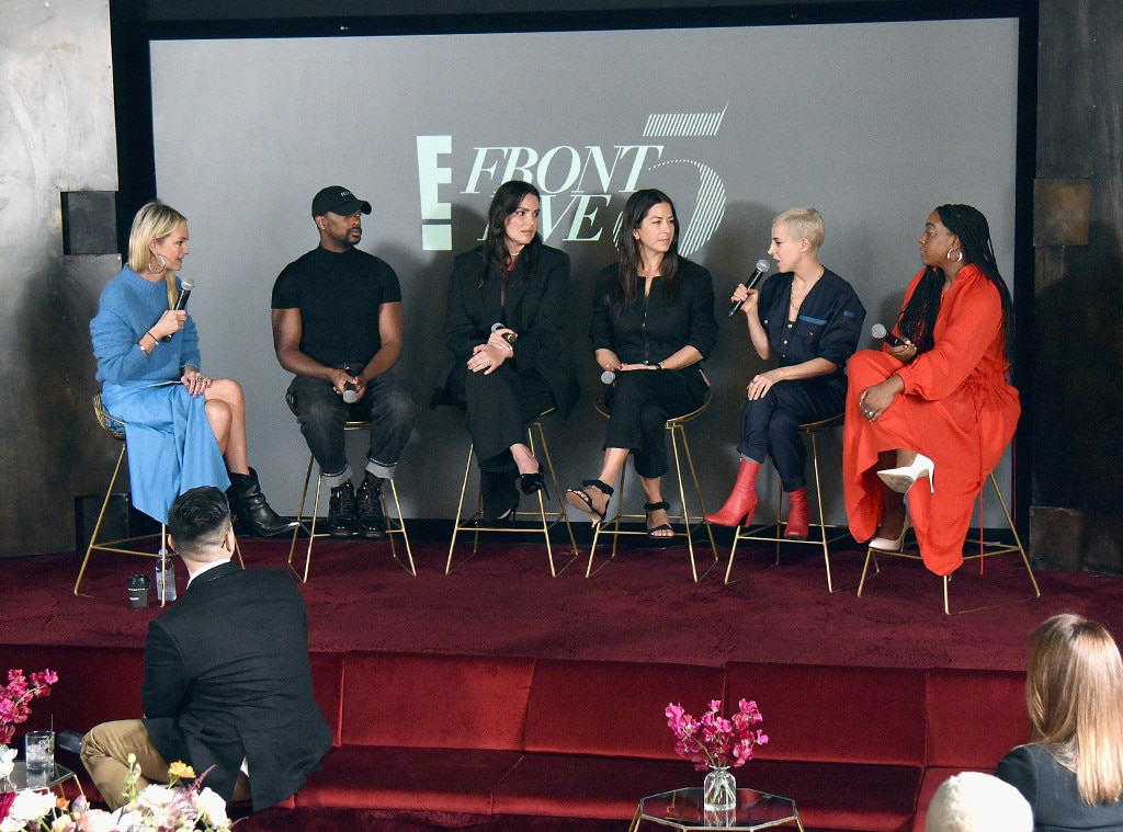 Zanna Roberts Rassi, LaQuan Smith, Candice Huffine, Rebecca Minkoff, Romy Soleimani & Lindsay Peoples Wagner -  Participated in the NYFW Front Five Luncheon and Panel with E! on Feb. 7, 2019.