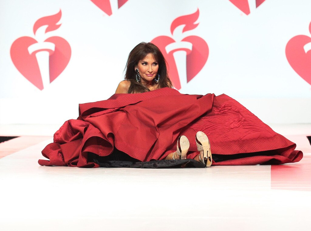 Susan Lucci takes a tumble on American Heart Association runway