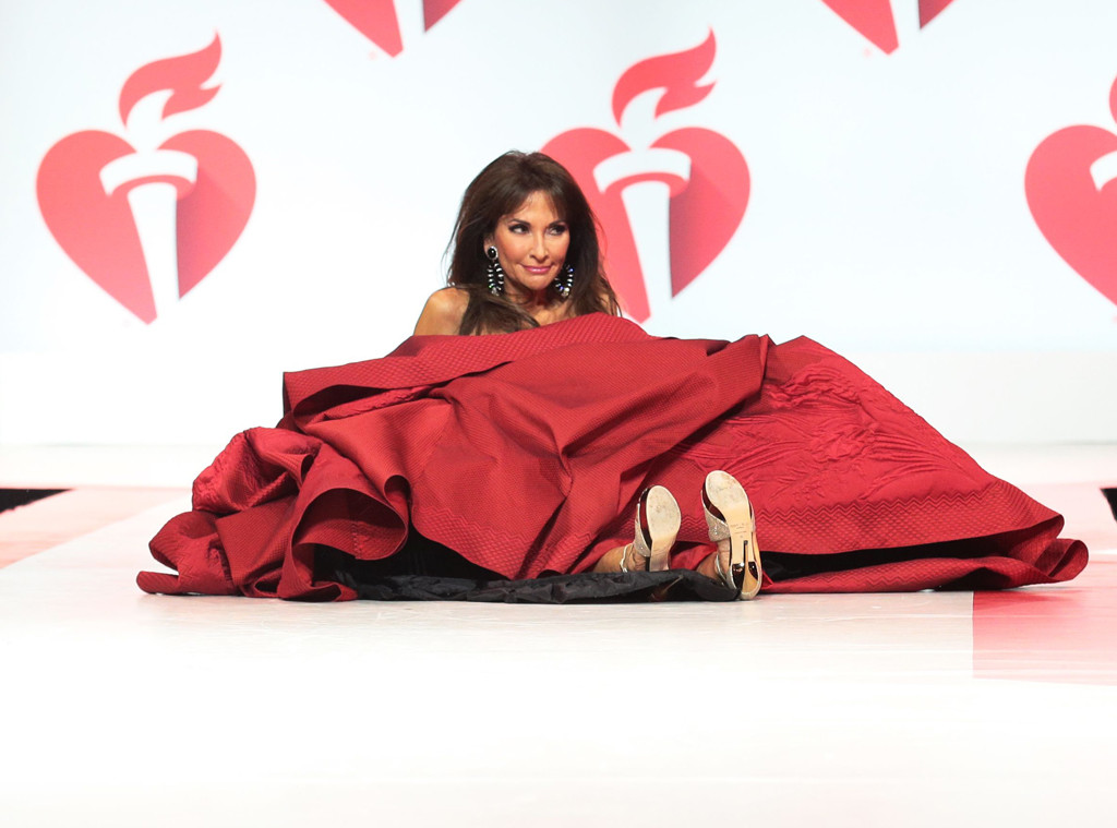 Susan Lucci, Go Red for Women Red Dress, Runway 2019