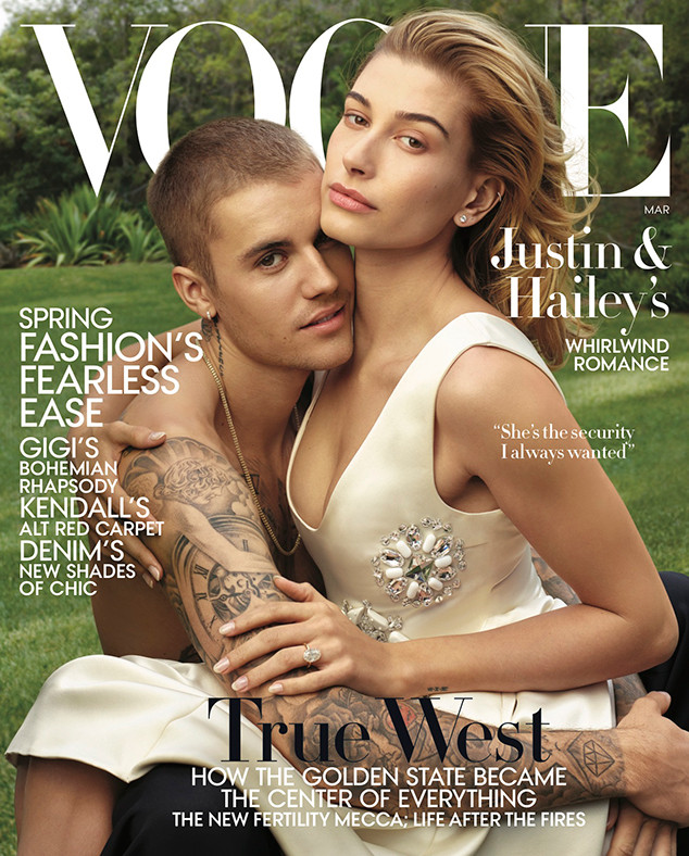 Justin Bieber, Hailey Baldwin, Vogue Cover, March Vogue 2019