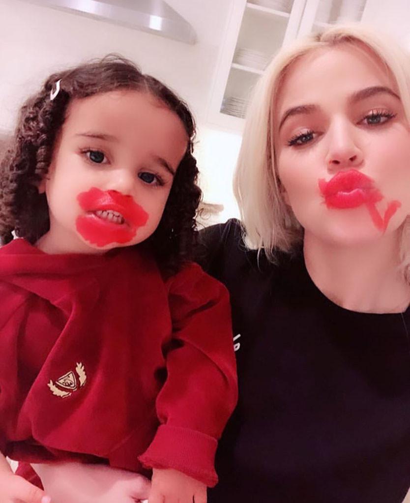 LOL! See Dream Kardashian Do Aunt Khloe's Makeup