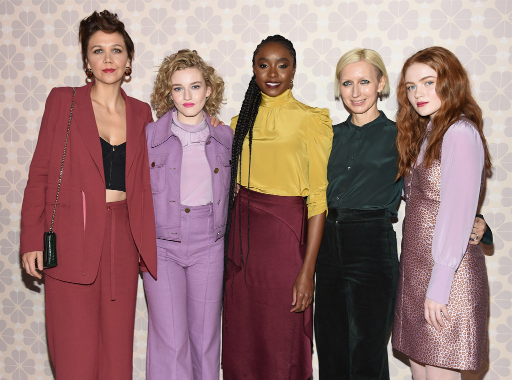Maggie Gyllenhaal, Julia Garner, Kiki Layne, Nicola Glass, Sadie Sink, Kate Spade show, New York Fashion Week 2019