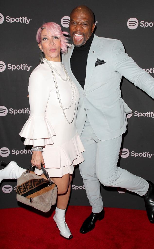 Rebecca Crews, Terry Crews, Spotify Best New Artist 2019 Party, Grammys
