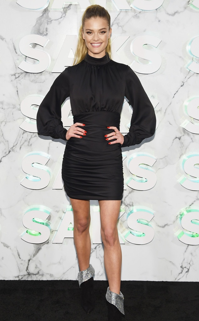 Nina Agdal -  Attended theopening of the Saks Fifth Avenue main floor redesign on Feb. 7, 2019.
