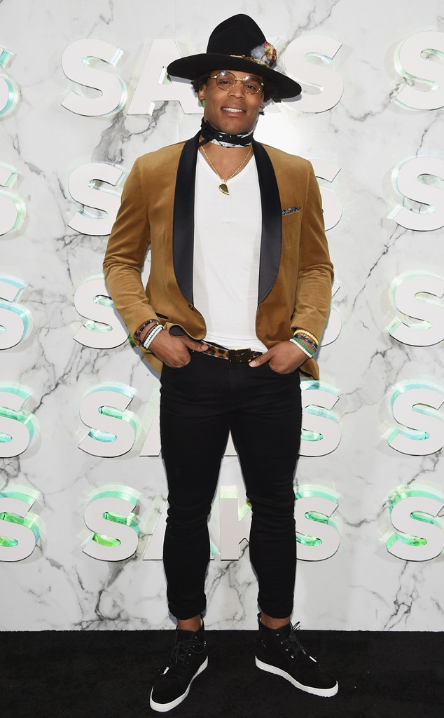 Cam Newton -  Attended theopening of the Saks Fifth Avenue main floor redesign on Feb. 7, 2019.