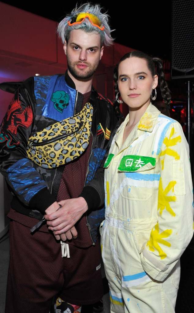 Sofi Tukker -  The electronic music duo pause for a photo opp inside Spotify's pre-Grammys celebration.
