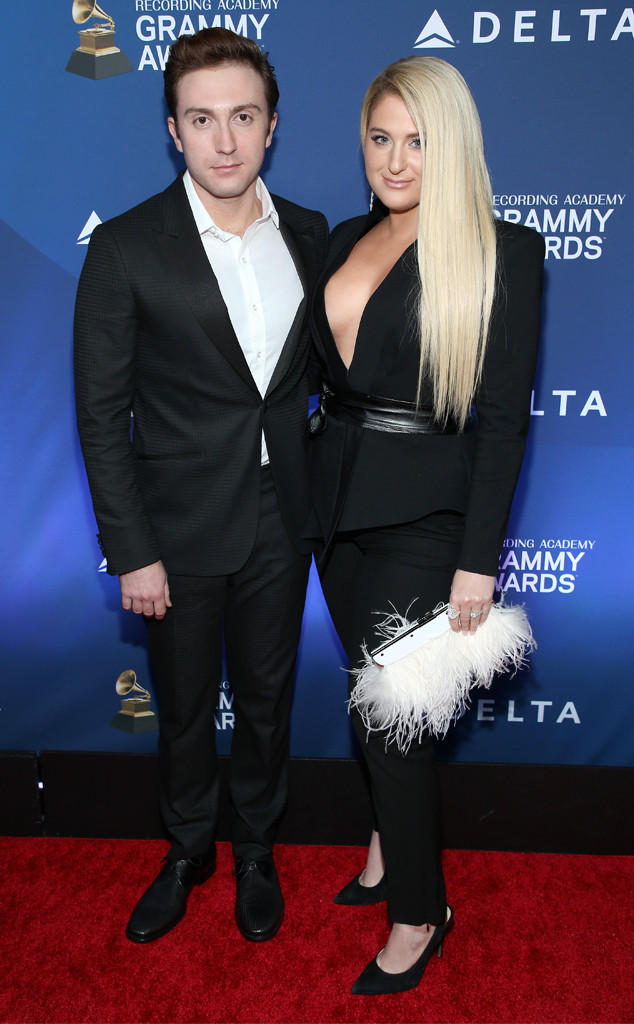 Daryl Sabara, Meghan Trainor, Delta Air Lines pre-Grammy party