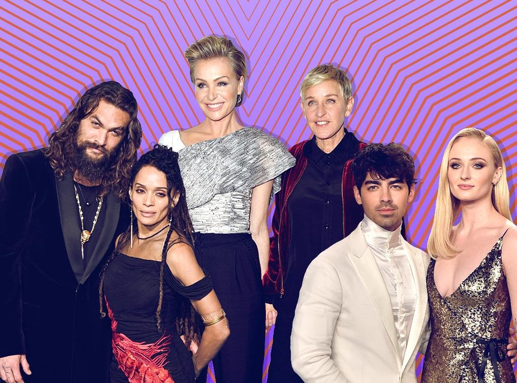 Power Couples, Lisa Bonet, Jason Momoa, Joe Jonas, Sophie Turner, Ellen DeGeneres, Portia