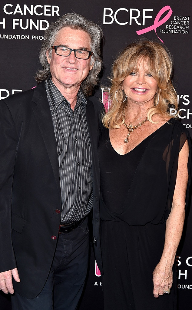 Kurt Russell & Goldie Hawn -  The longtime partners posed on the red carpet together.
