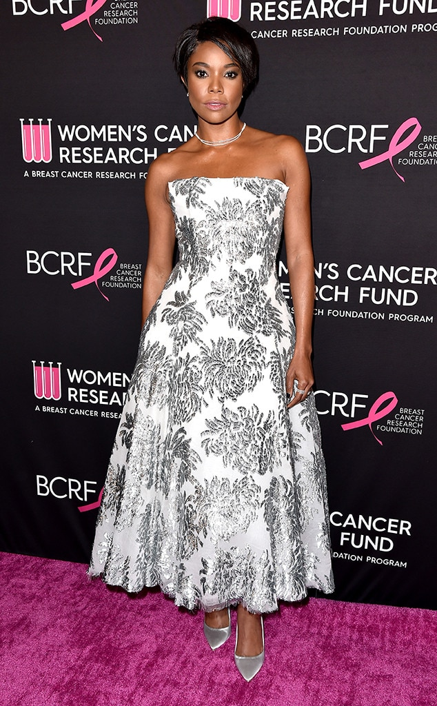 Gabrielle Union -  One of the night's honorees posed in a printed dress.