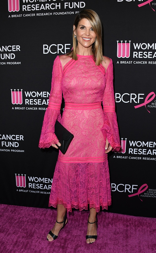Lori Loughlin -  The  Full House  alum was dressed in a fitting shade of pink for the breast cancer benefit gala.