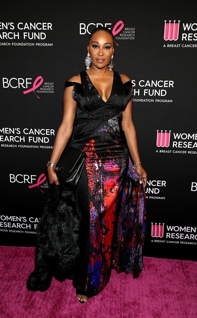 Cynthia Bailey -  The reality star was dressed to impress in a colorful, printed gown.