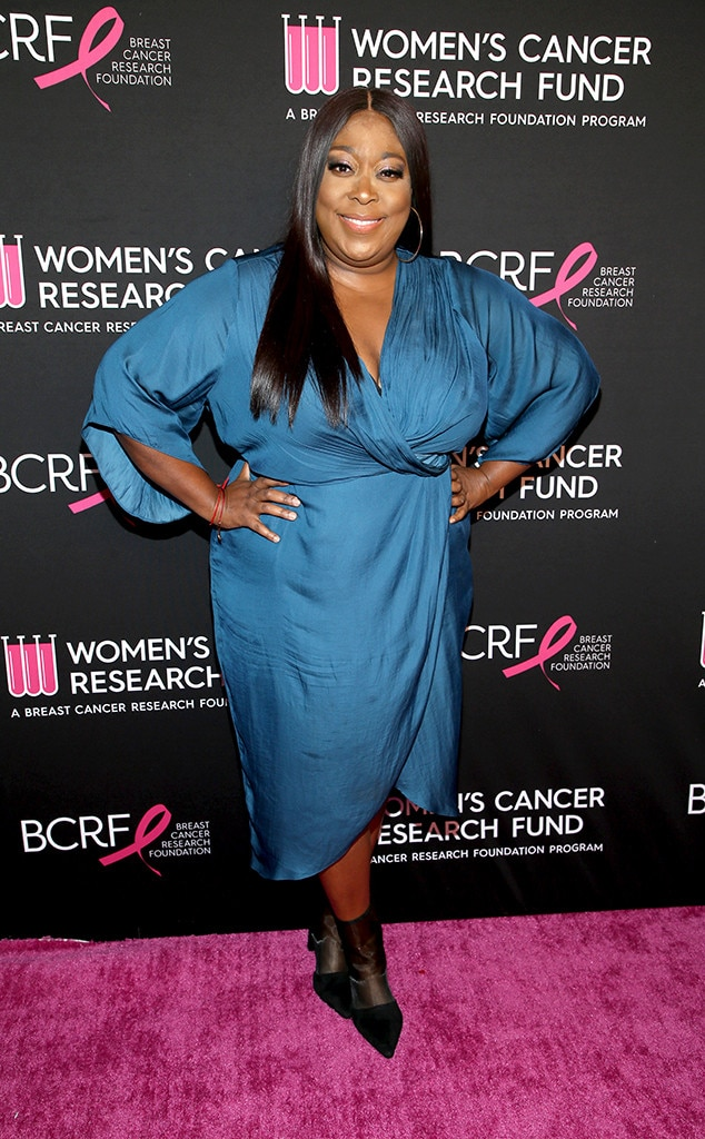 Loni Love -  The  Real  co-host struck a pose in a blue cocktail dress.