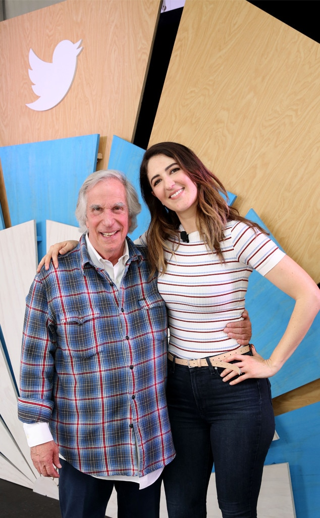 Henry Winkler & D'Arcy Carden -  The  Barry  and  The Good Place  stars smile together on March 9 in Austin.