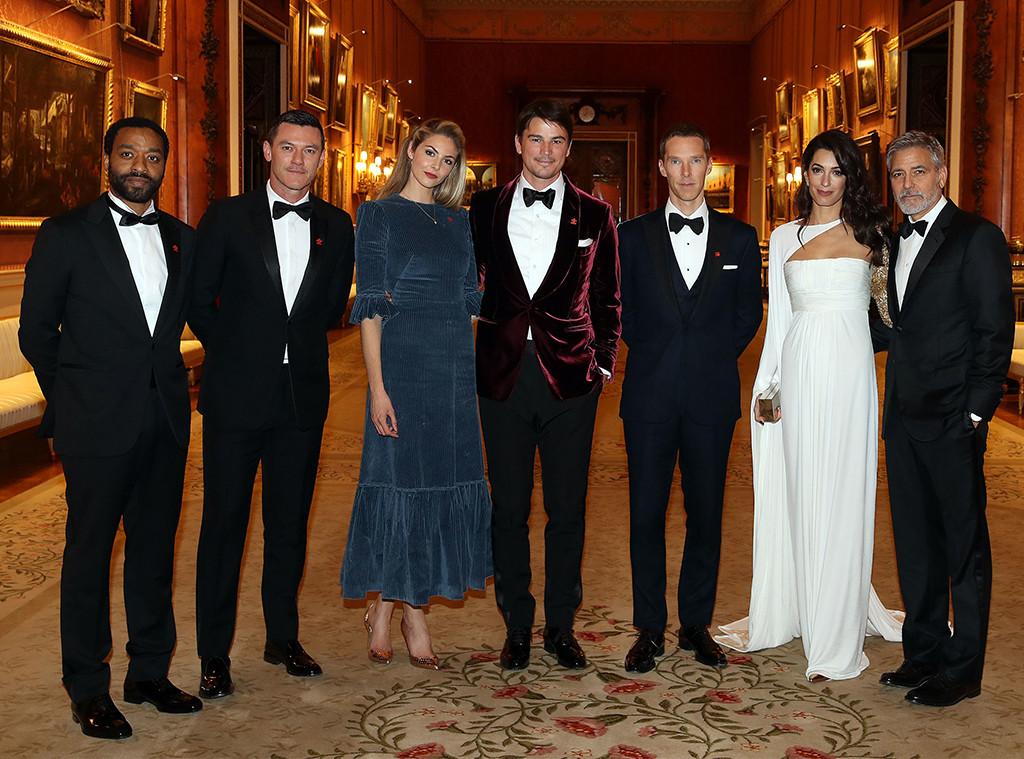 Chiwetel Ejiofor, Luke Evans, Tamsin Egerton, Josh Hartnett, Benedict Cumberbatch, Amal Clooney, George Clooney, Prince's Trust Dinner