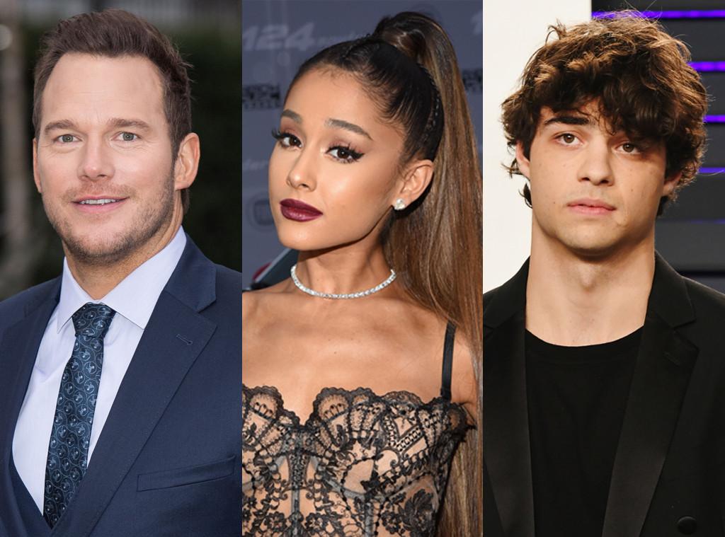 Ariana Grande, Chris Pratt, Noah Centineo