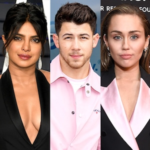 Priyanka Chopra, Nick Jonas, Miley Cyrus