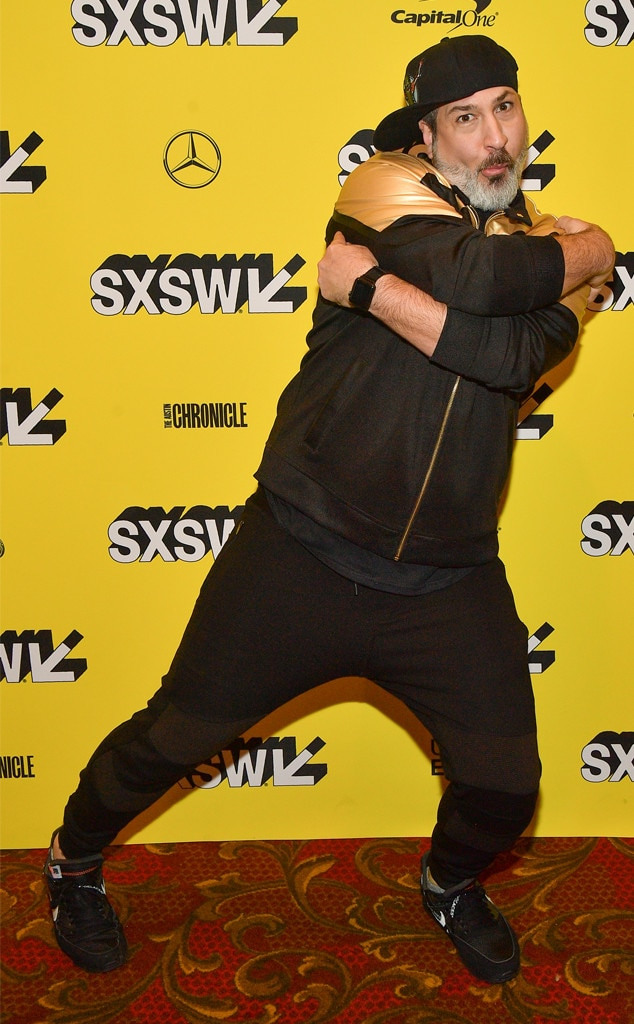 Joey Fatone -  The N*Sync singer gives his best boy band pose at the premiere of  The Boy Band Con: The Lou Pearlman Story  at SXSW Festival.