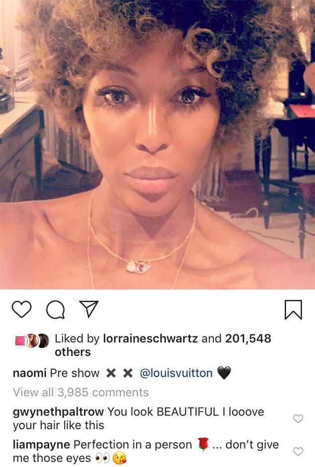 Liam Payne, Naomi Campbell, Instagram