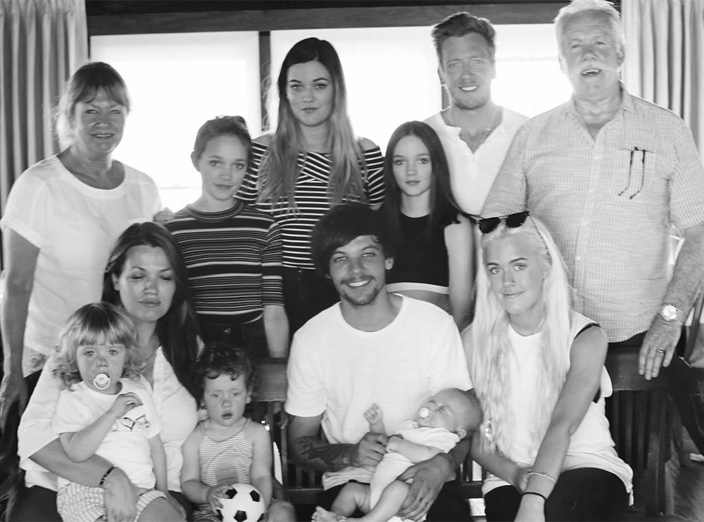 Louis Tomlinson, Felicite Tomlinson, Daisy, Lottie, Phoebe, Family