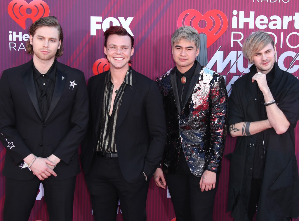 5 Seconds of Summer -  The Best Duo/Group of the Year nominees hit the red carpet before hitting the road for a massive tour with The Chainsmokers.