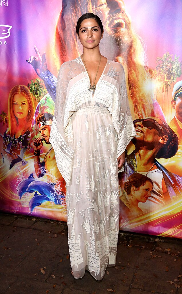 Camila Alves - Camila Alves  supported her husband,  Matthew McConaughey , at the Austin screening of  Beach Bum  wearing a stunning Zandra Rhodes dress.