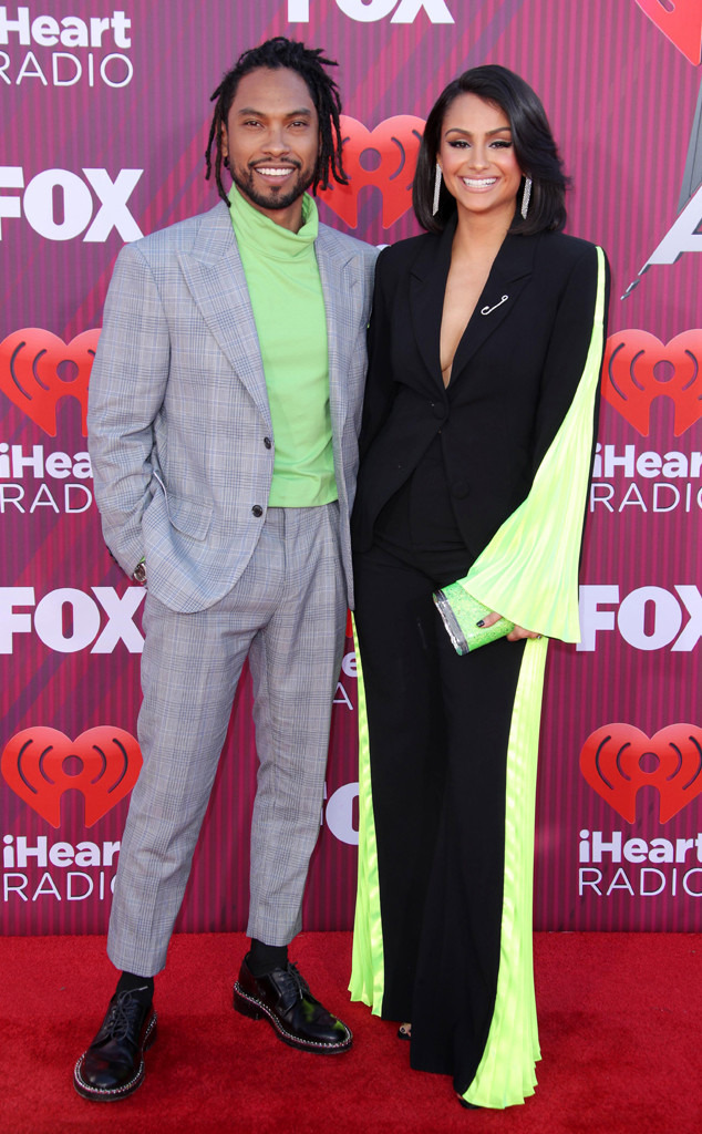 Miguel, Nazanin Mandi, Couples, 2019 iHeartRadio Music Awards, Arrivals