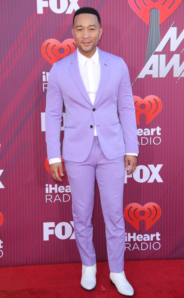John Legend -  We're turning our chair for  The Voice  coach's latest purple look at the Microsoft Theater.