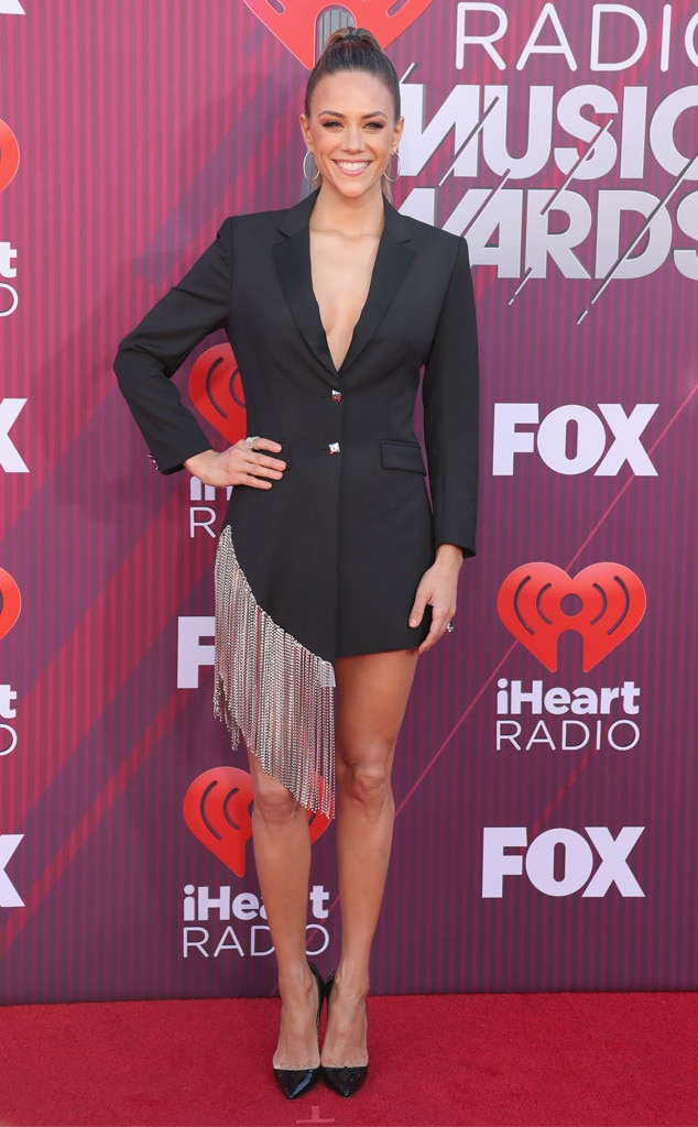 Jana Kramer -  The country singer rocked a Philipp Plein dress and Christian Louboutin heels as she hit the iHeartRadio Music Awards carpet.
