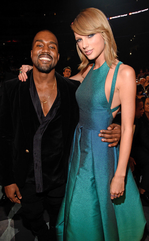 Kanye West, Taylor Swift, 2015 Grammy Awards, Candids