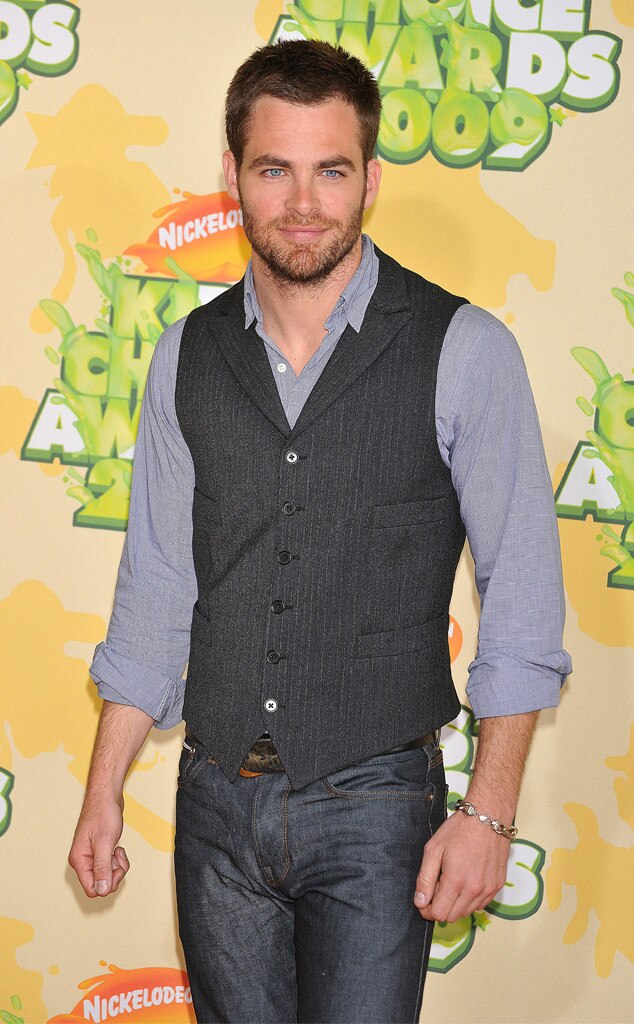 Chris Pine -  Back in 2009, the same year he starred in  Star Trek , Pine attended the Kids' Choice Awards.