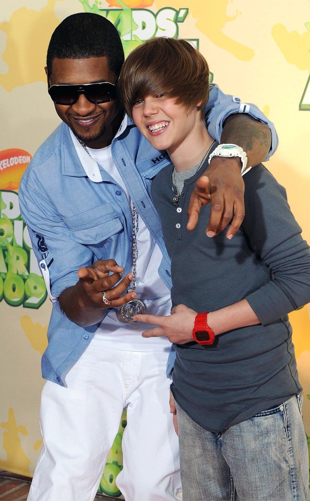 Usher & Justin Bieber -  The pals shared a BFF moment together on the red carpet.