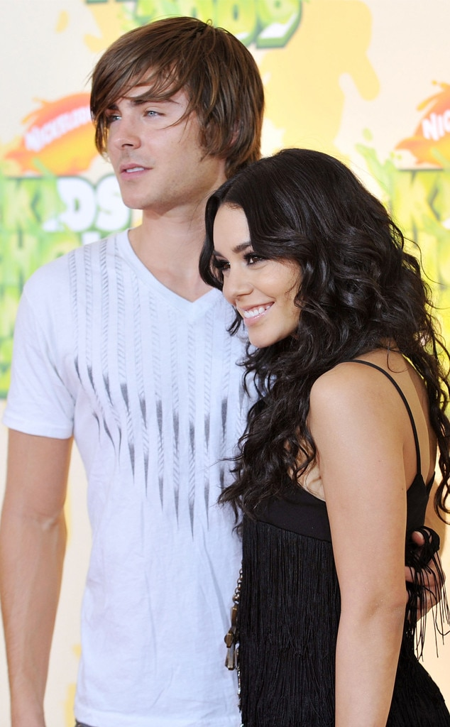 Zac Efron & Vanessa Hudgens -  The  High School Musical  co-stars and former couple walked the red carpet together at the ceremony.