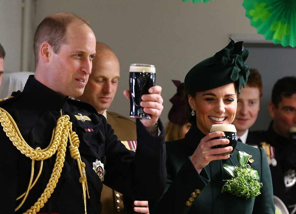 "Prince William & Kate Middleton -  The royals say ""Cheers"" as they attend a St. Patrick's Day parade."