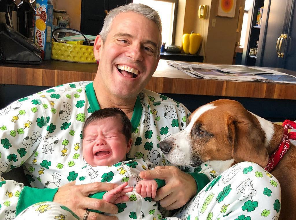 Andy & Benjamin Cohen -  The  Watch What Happens Live  host smiles as he and his newborn son match on the holiday.