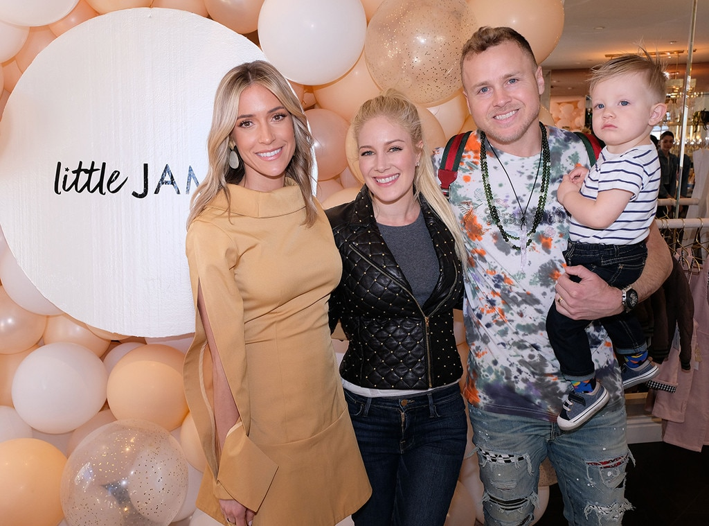 Palisades Village -  While celebrating the launch of her kids line  Little James ,  Kristin Cavallari  receives support from her friends  Heidi Montag  and  Spencer Pratt .