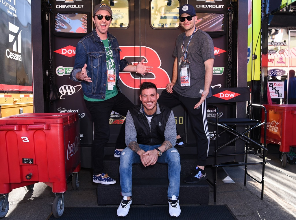Auto Club Speedway -  These guys have a need for speed! Vanderpump Rules  stars  Beau Clark ,  Jax Taylor  and  Tom Schwartz  enjoy an unforgettable day at the Monster Energy NASCAR Cup Series race.