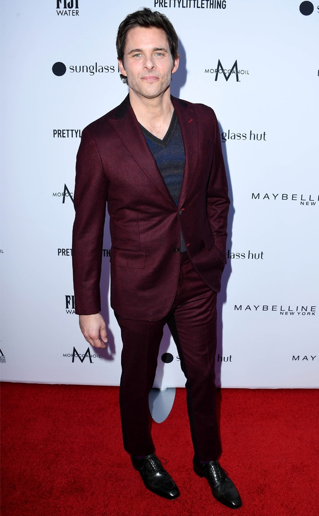 James Marsden -  The actor looked dapper in a burgundy suit by EIDOS.