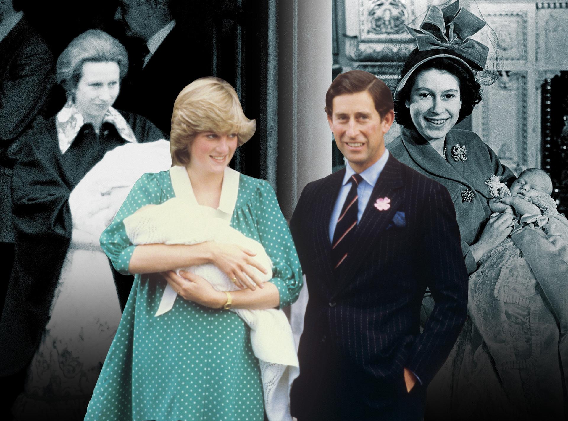 Royal Baby Deliveries, Princess Anne, Princess Diana, Queen Elizabeth