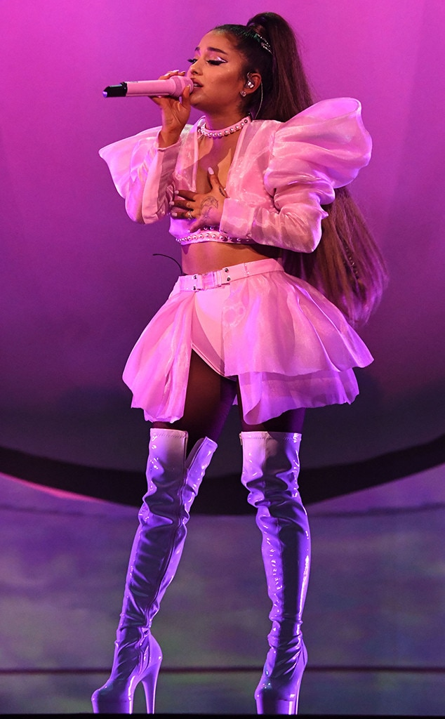 Ariana Grande's Dance Moves in Super High Heels Impress