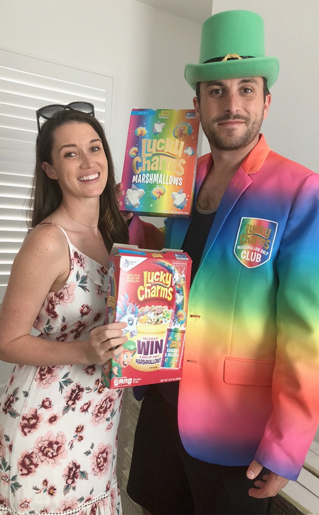 Tanner Tolbert -  The  Bachelor in Paradise  star celebrates St. Patrick's Day with Lucky Charms and Jade Roper in an unforgettable outfit.