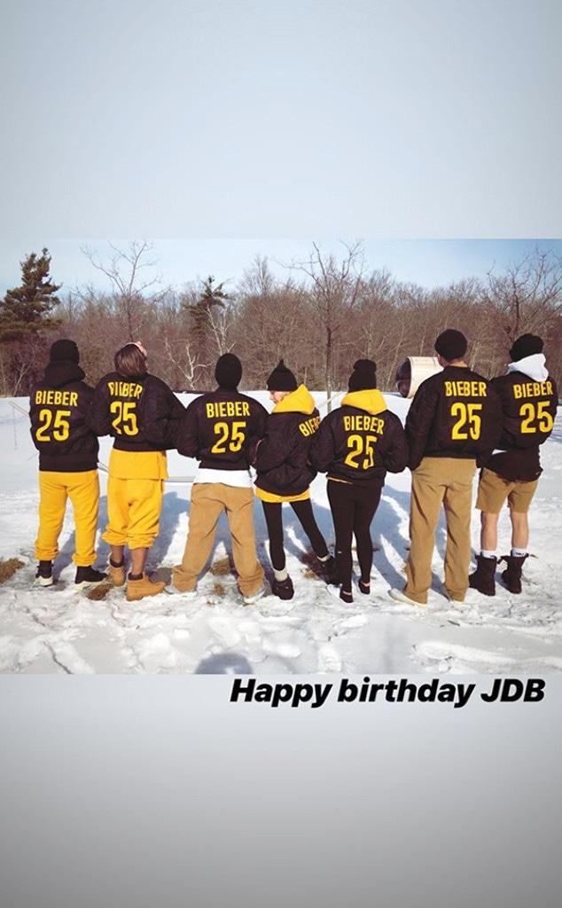 Justin Bieber, 25th Birthday, Instagram